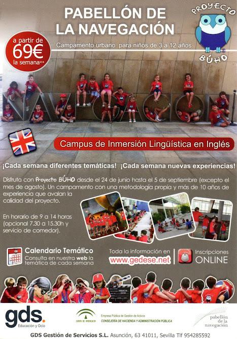 Cartel Campamento Urbano Pabellón de la Navegación - Verano 2015