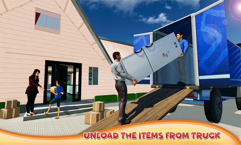 Super Dad Happy Family Home Mover- screenshot