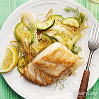 Panfried Cod with Fennel & Squash.