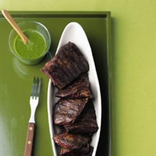 Skirt Steak with Cilantro Garlic Sauce Recipe