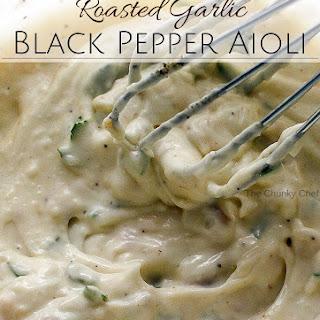 Roasted Garlic and Black Pepper Aioli