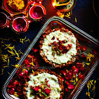 Granola Tart with Sitaphal (Custard Apple) Rabdi - Diwali Special Recipe