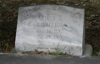 Photo: Arthur R Raulerson son of William M Raulerson and America Texas Dinkins / Husband of 1. Minnie Burnsed 2. FNU Johns