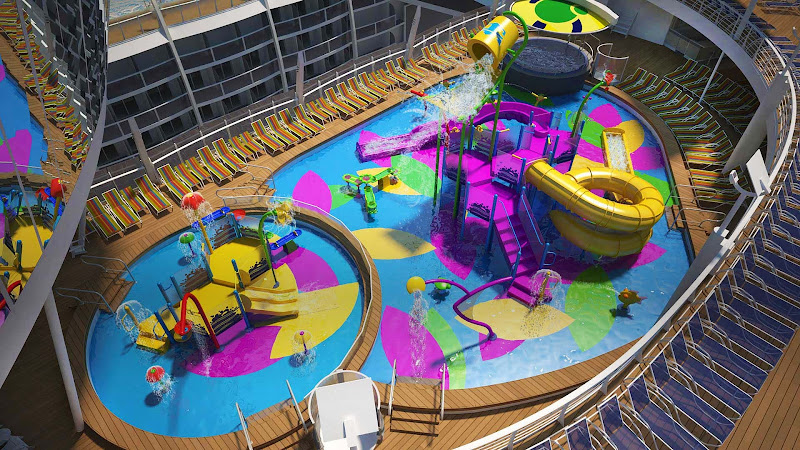 Harmony of the Seas will be the first Royal Caribbean ship to feature Splashaway Bay, an interactive aqua park for kids.