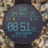 Unduh LED Watch face with Weather Gratis