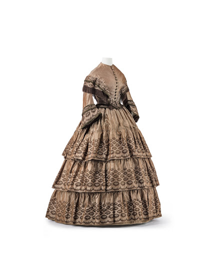 Brown Walking Dress - Unknown — Google Arts & Culture