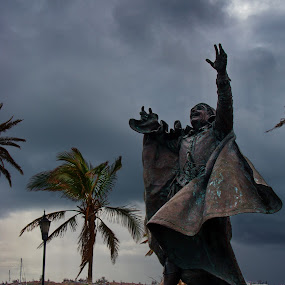 Sir George Somers by David Clare - City,  Street & Park  Historic Districts ( st. george, statue, george somers, park, bermuda,  )
