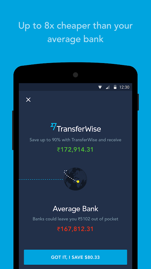 TransferWise Money Transfer- screenshot