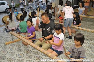 Photo: 【平成23年(2011) 太鼓開き】  本年より参加する子供たちに熱のこもった指導。