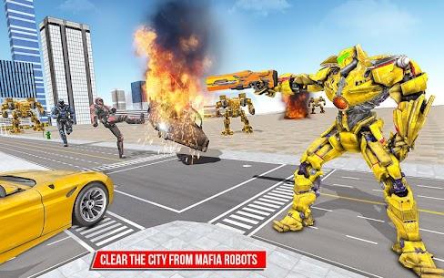 Muscle car robot game – Bus robot transform games 1