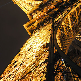 Eiffel Tower by Stefen Dicks - Travel Locations Landmarks ( lights, paris, eiffel tower, landmark, structure, night, france )