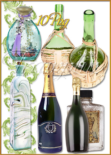 Клипарт  -  Сосуды, бутылки