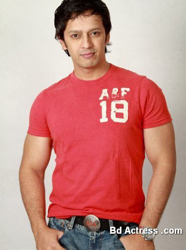Bangladeshi Model Nobel in a red shirt