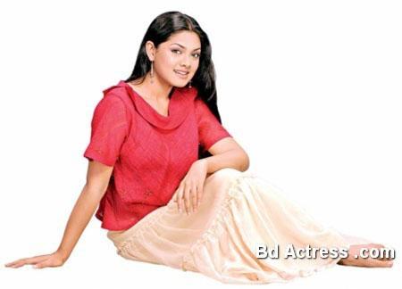 Bangladeshi Model Tisha red dress