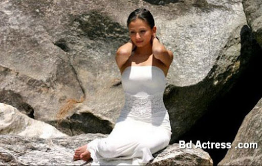 Indian Model Aliasha Kahnna white dress