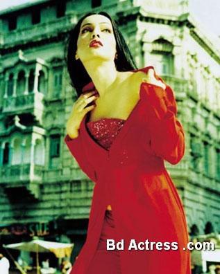 Pakistani Model Amina Haq red wear