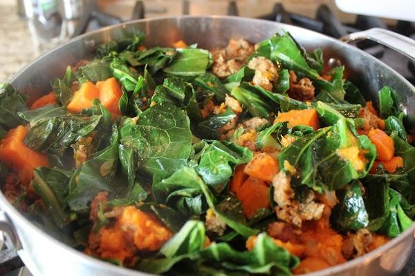 Stir the Penzey's Cajon Spice to taste.   Layer the whole bunch of...