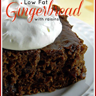 Low-Fat Gingerbread Cake with Raisins.