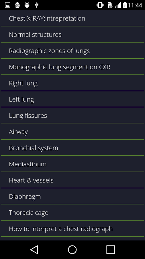 Chest Radiographs- screenshot