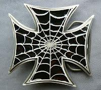 Bältesspänne Iron cross Malteser med spindelnät
