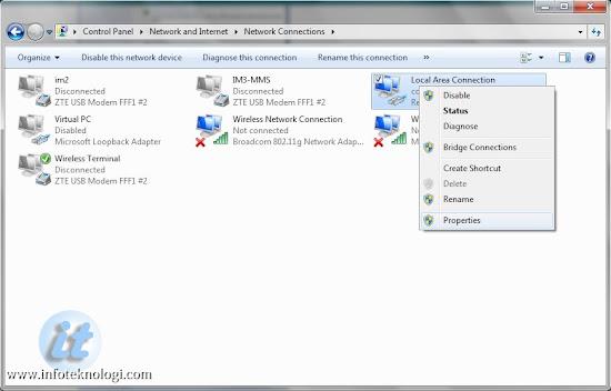 Gambar Control Panel di Windows 7