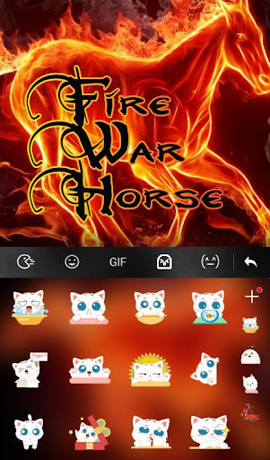Fire War Horse Keyboard Theme 6.12.23.2018 screenshots 4