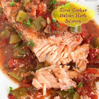 Slow Cooker Italian Herb Salmon (Paleo/Whole30).