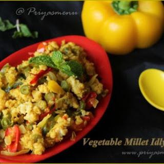 Vegetable Millet Idly UPma.