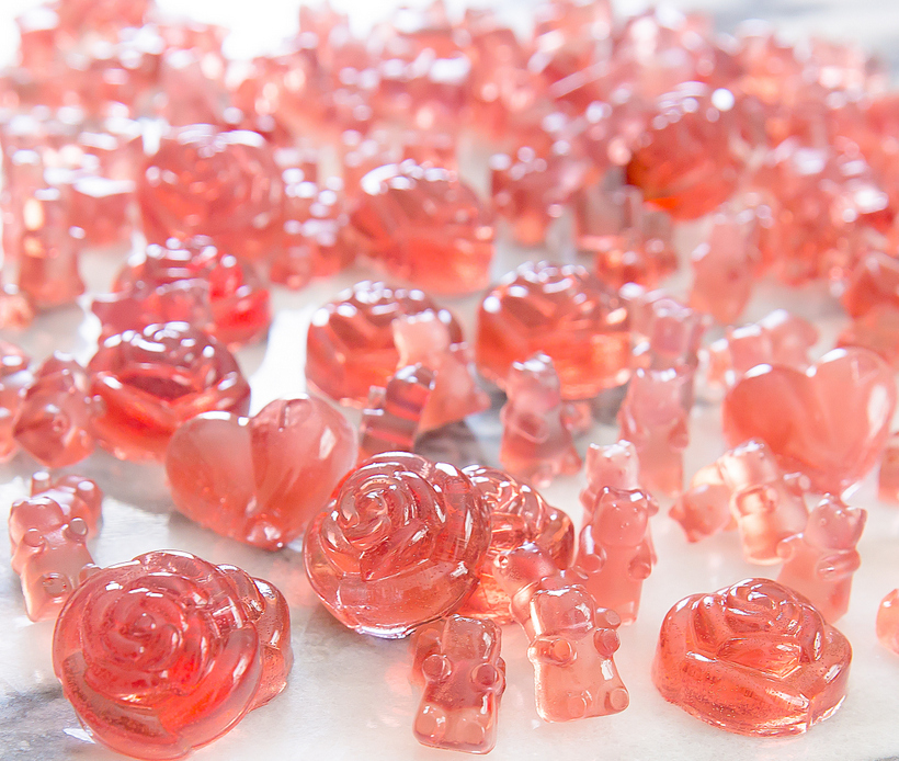 close-up photo of Rosé Champagne Gummy Bears