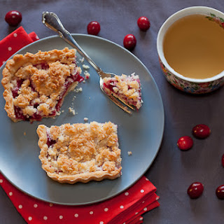 Cranberry And Apple Tart With Coconut Streusel