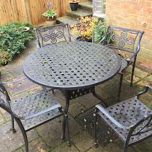 Photo: metal garden set in stansted mountfichet