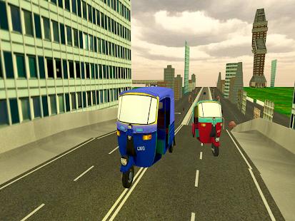 Modern Rickshaw Drive-City Tuk Tuk Rickshaw game screenshot