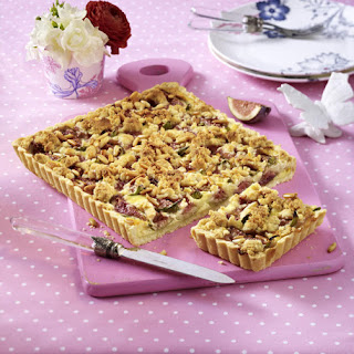 Fig Tart with Honey Crumbles.