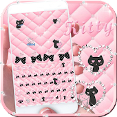 Love kitty pink keyboard Theme