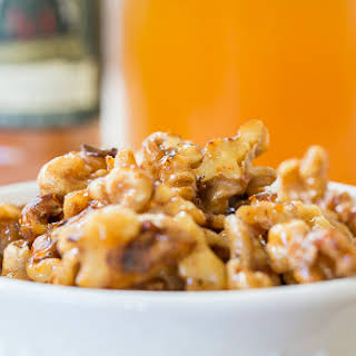 Quick Honey Candied Nuts.