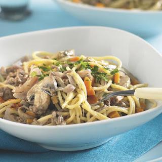 Creamy Beef and Mushroom Spaghetti