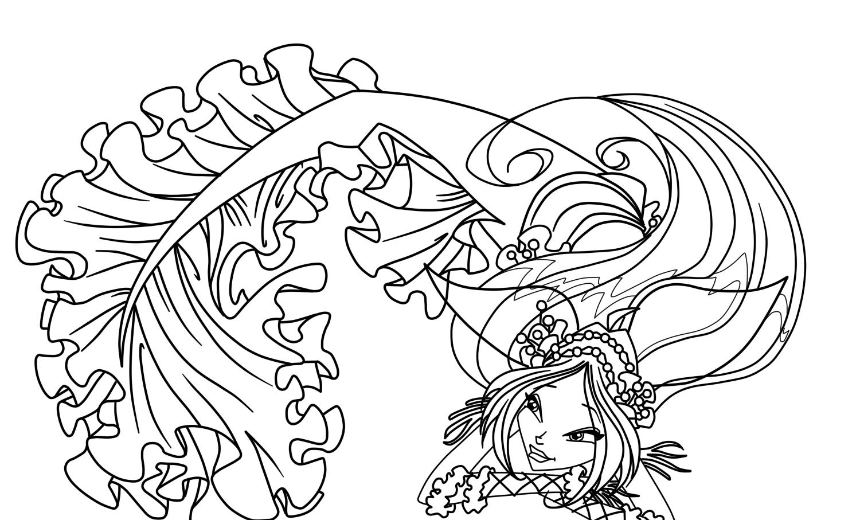 dessin des winx a colorier