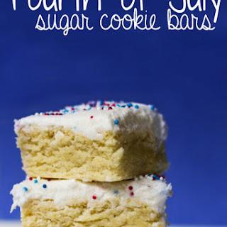 Sugar Cookie Bar 4th of July Dessert.