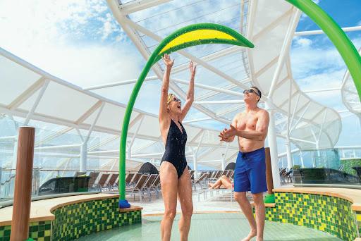 Enjoy a cool spray on a sunny day in the Solarium on Harmony of the Seas.