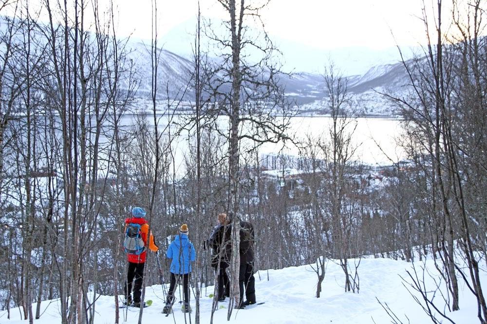 Fazer um brutal caminhada de RAQUETES DE NEVE na ilha de Tromso | Noruega