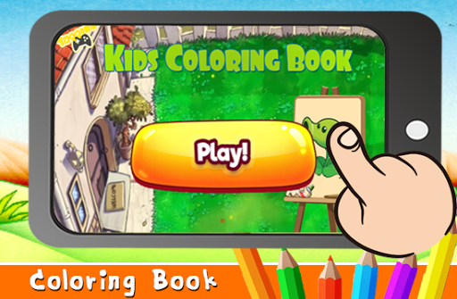 Draw Game vs Plant Zombie Coloring Book