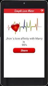 Simple Love Meter screenshot 0