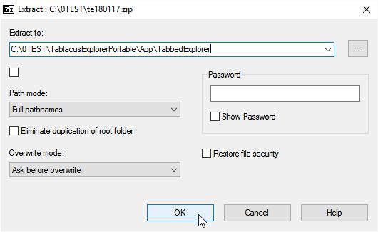 Into App\TabbedExplorer