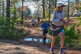 Photo: South side of Los Alamos Canyon; Jemez Mountains Trail Run, May 2014