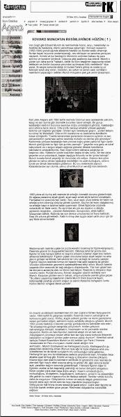 Photo: 6- Edvard Munch'un Resimlerinde Hüzün 1, Nalan Yılmaz, 29 Ekim 2001 Pazartesi, Hürriyet Agora