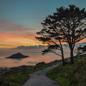 Wembury Sunset by Jolyon Vincent - Landscapes Sunsets & Sunrises