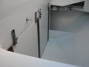 Photo: Removable engine access panels in ockpit locker installed