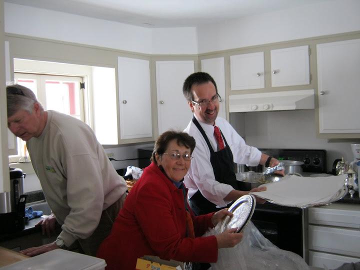 Steve Cobb in the kitchen