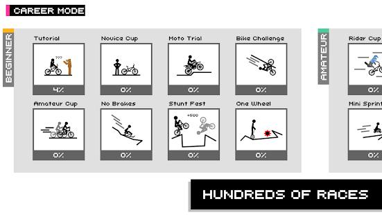 Draw Rider Free - top bike stickman racing games Screenshot