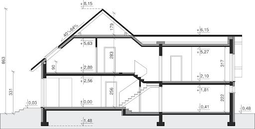Dom przy Cyprysowej 6 - Przekrój